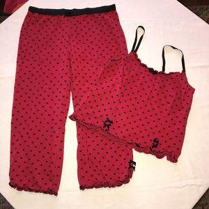 NWOT Joe Boxer Red & Black Heart Sleepwear